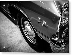 Chevrolet Chevelle 396 Black And White Picture Acrylic Print by Paul Velgos