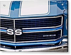 Chevrolet Chevelle Ss Grille Emblem 2 Acrylic Print by Jill Reger