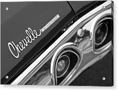 Chevrolet Chevelle Ss Taillight Emblem Acrylic Print by Jill Reger