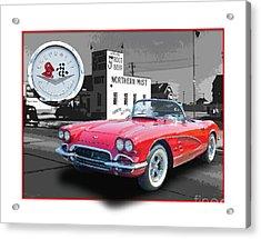 Chevrolet Corvette 1962 Acrylic Print by Dan Knowler