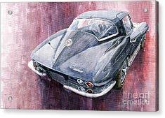 Chevrolet Corvette Sting Ray 1965 Acrylic Print by Yuriy  Shevchuk