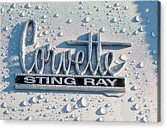 1966 Chevrolet Corvette Sting Ray Emblem -0052c Acrylic Print by Jill Reger