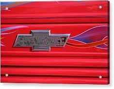 Chevrolet Emblem Acrylic Print by Carol Leigh
