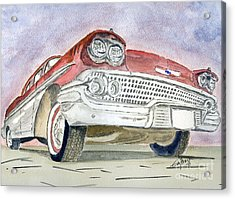 Acrylic Print featuring the painting Chevrolet II by Eva Ason