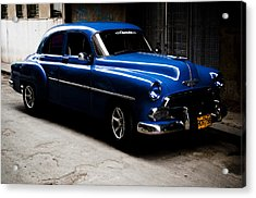Chevrolet In Havana Acrylic Print by Dan  Grover