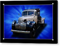 Acrylic Print featuring the photograph Chevrolet Maple Leaf Truck by Keith Hawley