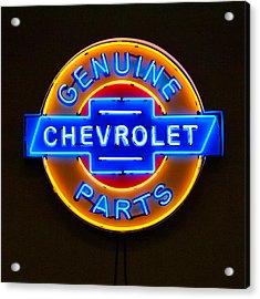 Chevrolet Neon Sign Acrylic Print by Jill Reger
