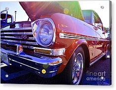 Chevrolet Red Acrylic Print by LLaura Burge