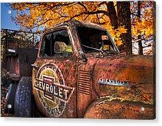 Chevrolet Usa Acrylic Print by Debra and Dave Vanderlaan