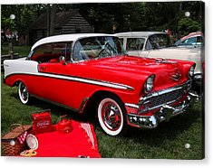 Chevy Bel Air In Red Acrylic Print