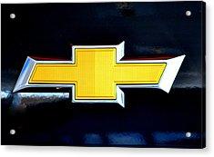 Chevy Bowtie Camaro Black Yellow Iphone Case Mancave Acrylic Print