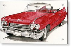 Acrylic Print featuring the painting  'caddy'-59 by Eva Ason
