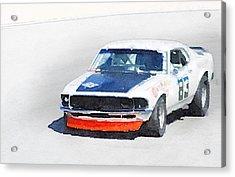 Chevy Camaro Monterey Watercolor Acrylic Print
