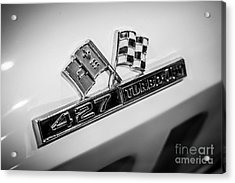 Chevy Corvette 427 Turbo-jet Emblem Acrylic Print