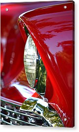 Chevy Headlight Acrylic Print by Dean Ferreira
