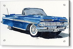 Acrylic Print featuring the painting Chevy Impala by Eva Ason