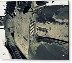 Arroyo Seco Chevy In Silver Acrylic Print