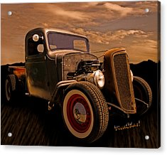 Chevy Rat Rod Pickup 1936 Acrylic Print