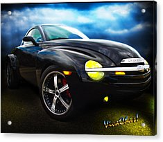 Chevy Ssr Night Life Hot Rods Live Lives All Their Own Acrylic Print