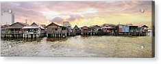 Chew Jetty Heritage Site In Penang Acrylic Print