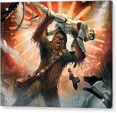 Chewbacca - Star Wars The Card Game Acrylic Print by Ryan Barger