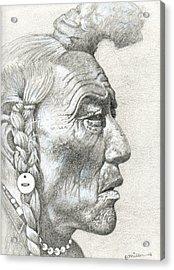 Cheyenne Medicine Man Acrylic Print