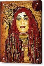 Cheyenne Woman Warrior Acrylic Print by Pepita Selles