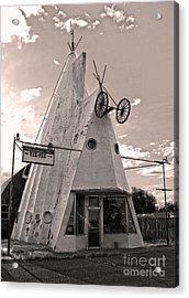Cheyenne Wyoming Teepee - 04 Acrylic Print by Gregory Dyer