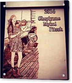 Cheys Graduation Acrylic Print by Lindsee Pitsch