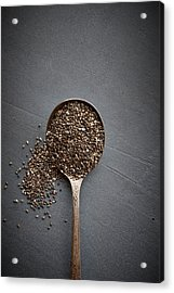 Chia Seeds Acrylic Print by Lew Robertson