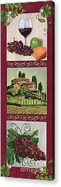 Chianti And Friends Collage 1 Acrylic Print by Debbie DeWitt