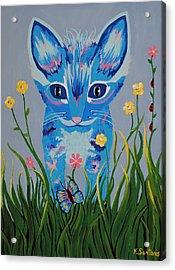Acrylic Print featuring the painting Chibi by Kathleen Sartoris