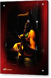 Chic Bassist Acrylic Print