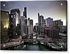 Chicago At Dusk Acrylic Print