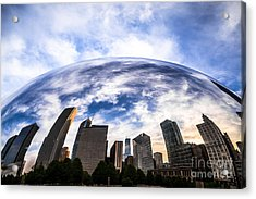 Chicago Bean Cloud Gate Skyline Acrylic Print by Paul Velgos