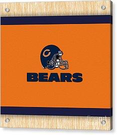Chicago Bears Acrylic Print by Marvin Blaine