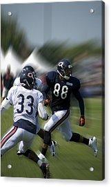 Chicago Bears Te Dante Rosario Training Camp 2014 03 Acrylic Print by Thomas Woolworth