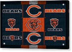 Chicago Bears Uniform Patches Acrylic Print by Joe Hamilton