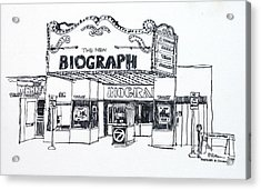 Chicago Biograph Theater Acrylic Print by Robert Birkenes