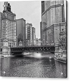 #chicago #blackandwhite #urban Acrylic Print