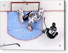 Chicago Blackhawks V Los Angeles Kings Acrylic Print by Jeff Gross