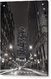 Chicago Board Of Trade B W Acrylic Print by Steve Gadomski