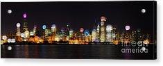 Chicago Bokeh Acrylic Print
