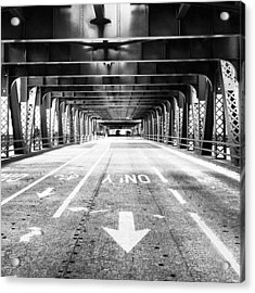 Chicago Wells Street Bridge Picture Acrylic Print by Paul Velgos