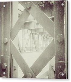 Chicago Bridge Ironwork Vintage Photo Acrylic Print by Paul Velgos