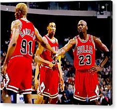 Chicago Bulls Big 3 Acrylic Print