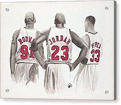 Chicago Bulls Acrylic Print by Megan Padilla
