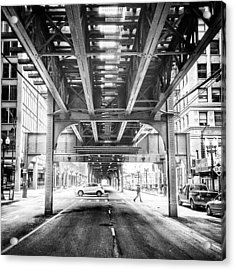 #chicago #chicagogram #blackandwhite Acrylic Print