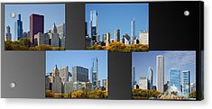 Chicago City Of Skyscrapers Acrylic Print by Christine Till