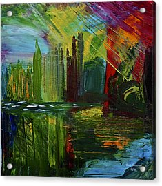 Chicago City Scape Acrylic Print by Dick Bourgault